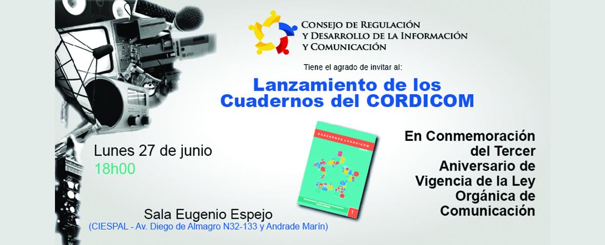 Lanzamiento oficial de los cuadernos del Cordicom