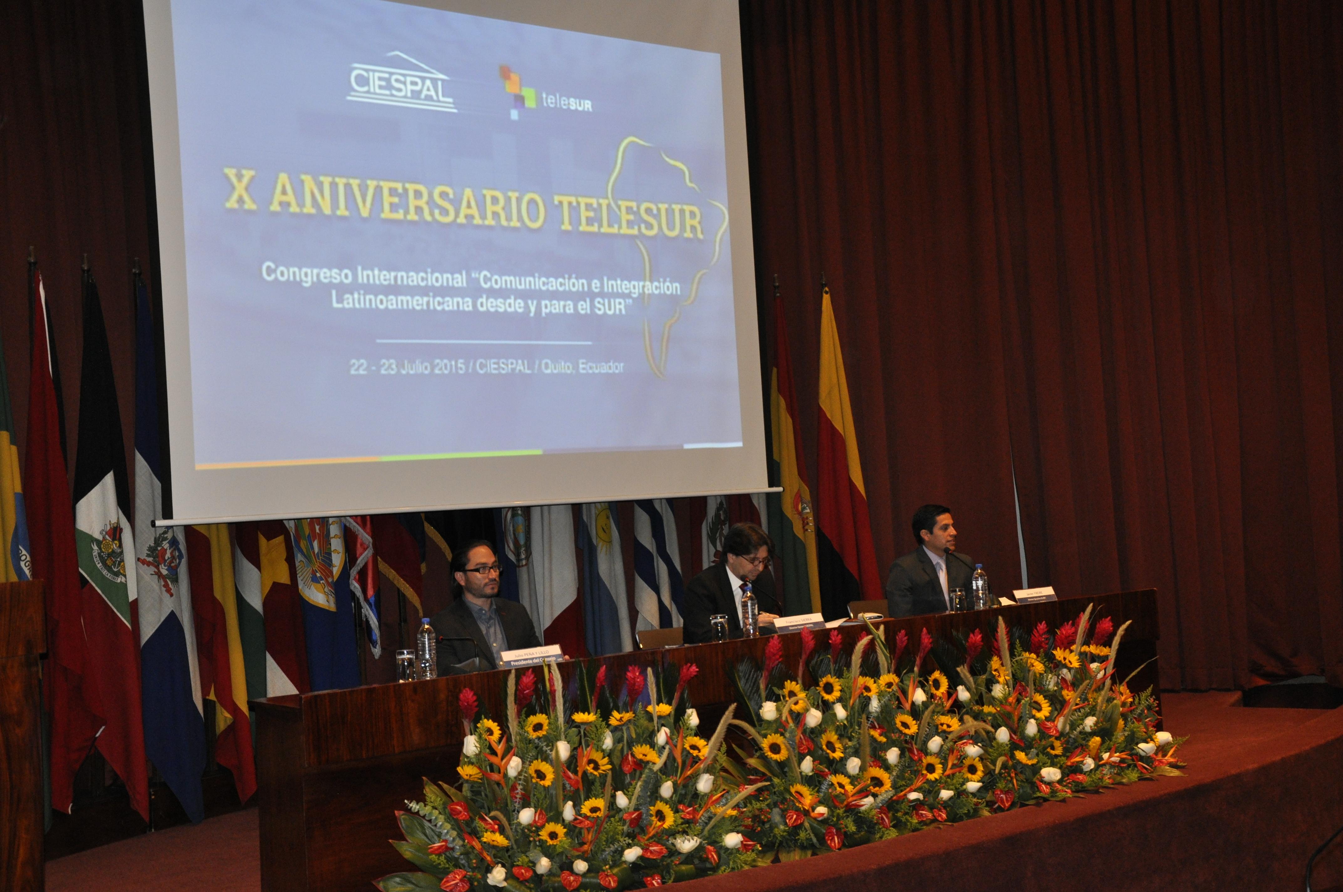 Inauguración de Congreso Internacional  por Aniversario de TeleSur