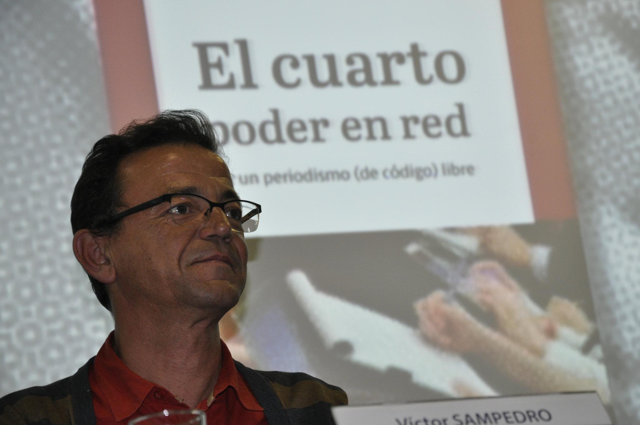 """""""Vamos a hacer historia en tiempo real, desde abajo y para eso necesitamos nuevos periodistas de investigación"""". Víctor SAMPEDRO"""