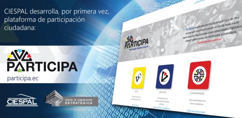 CIESPAL y SENESCYT lanzan plataforma virtual PARTICIPA.EC