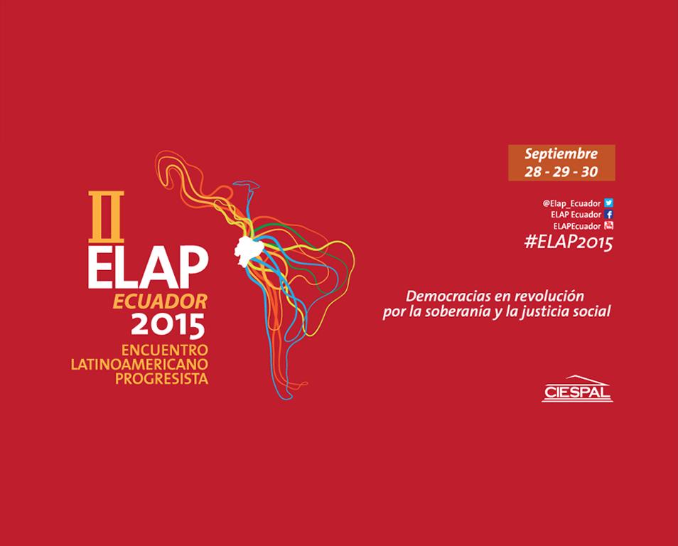Más de 35 personalidades de la izquierda progresista de América y el mundo se reunirán en el ELAP 2015