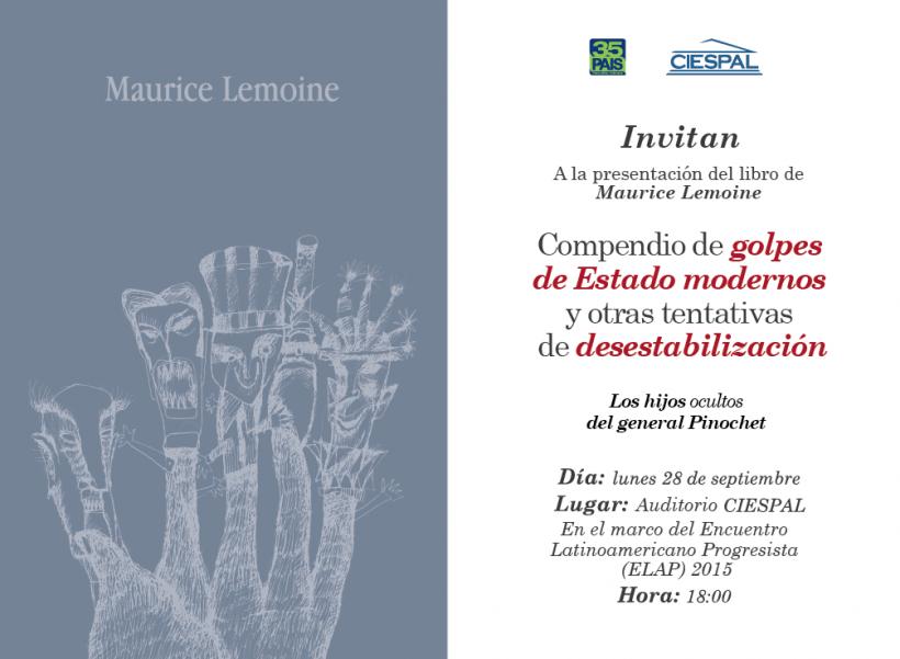 Ex Director de Redacción de Le Monde Diplomatique presenta libro sobre procesos de desestabilización de gobiernos progresistas