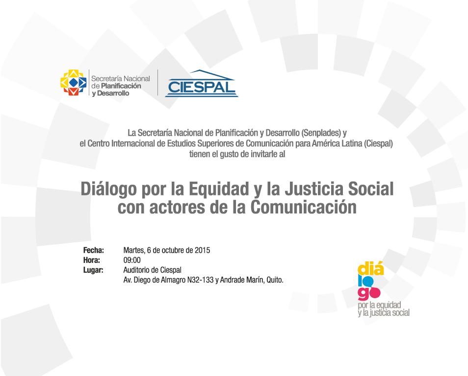 SENPLADES y CIESPAL impulsan el Diálogo Nacional por la Equidad y la Justicia Social con Actores de la Comunicación