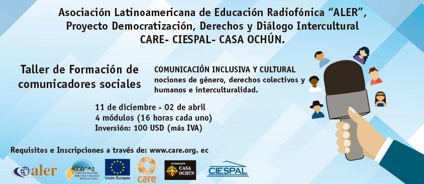 Proceso de formación para Comunicadores Sociales de Ecuador amplía plazo de inscripciones