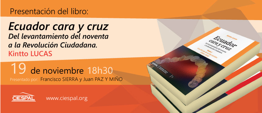 Presentación del libro Ecuador cara y cruz