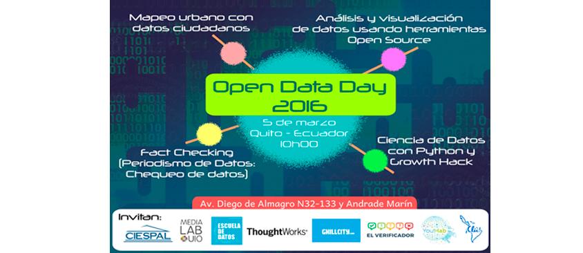 Open Data Day Quito: La celebración a nuestra capacidad de abrir datos para la transparencia