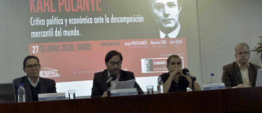 Los aportes del pensamiento económico de Karl POLANYI se debatieron en CIESPAL