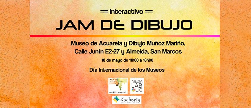 """""""Jam de dibujo"""" por el Día Internacional de los Museos"""