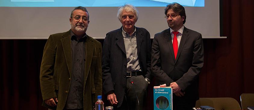 "Armand MATTELART presentó su último libro ""De Orwell al cibercontrol"""