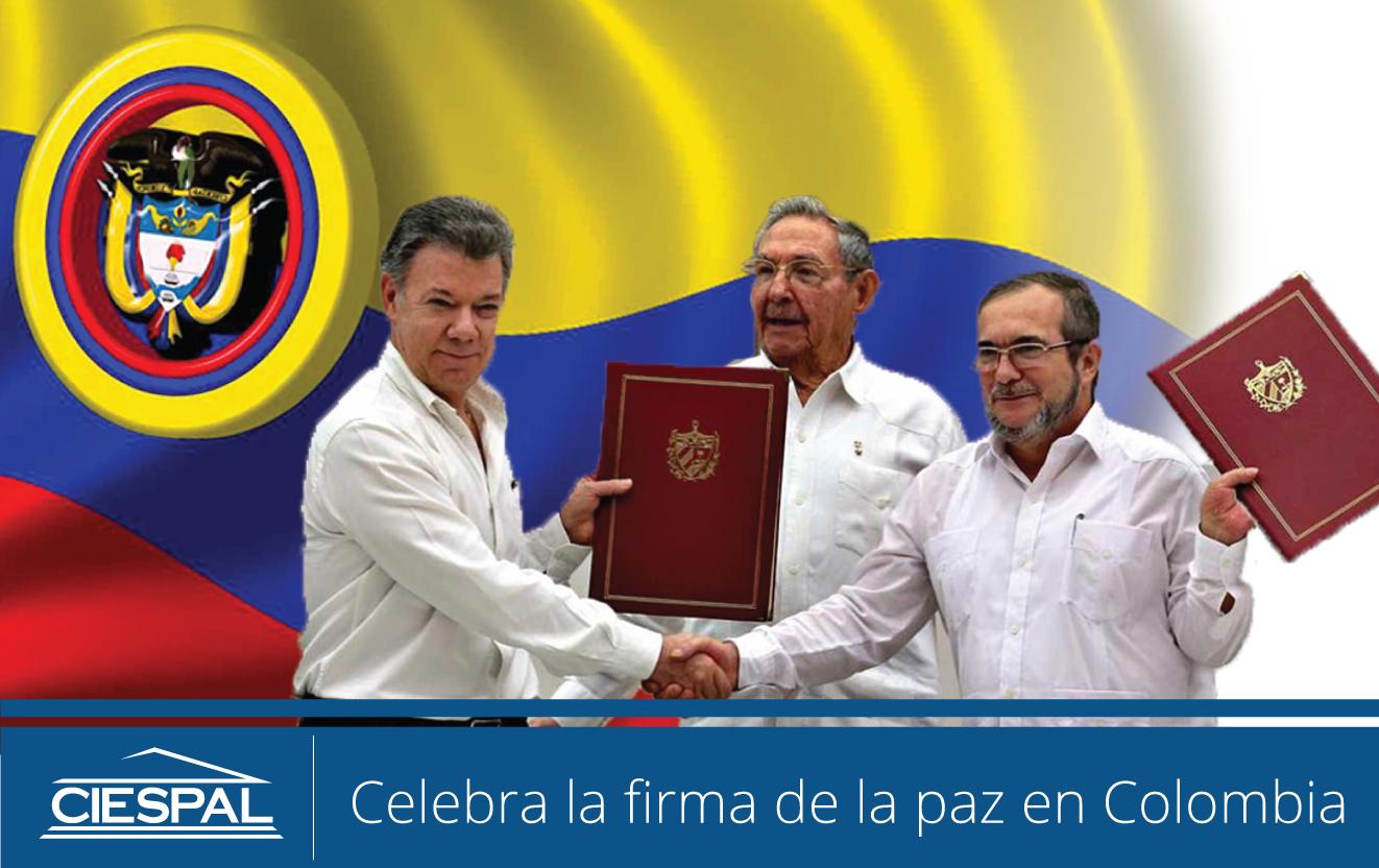 CIESPAL celebra la firma de la paz en Colombia