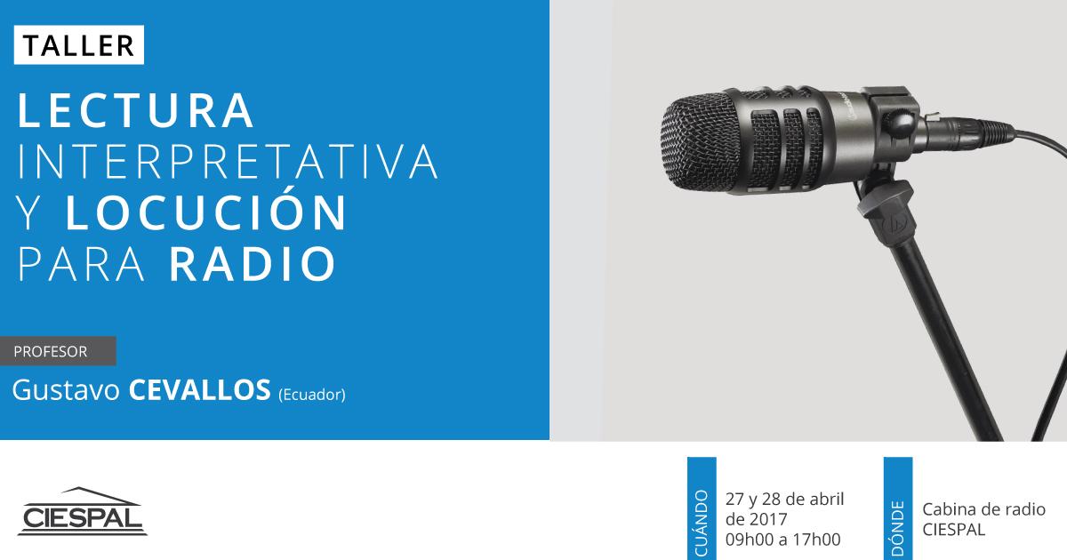 Taller de Lectura interpretativa y locución para radio