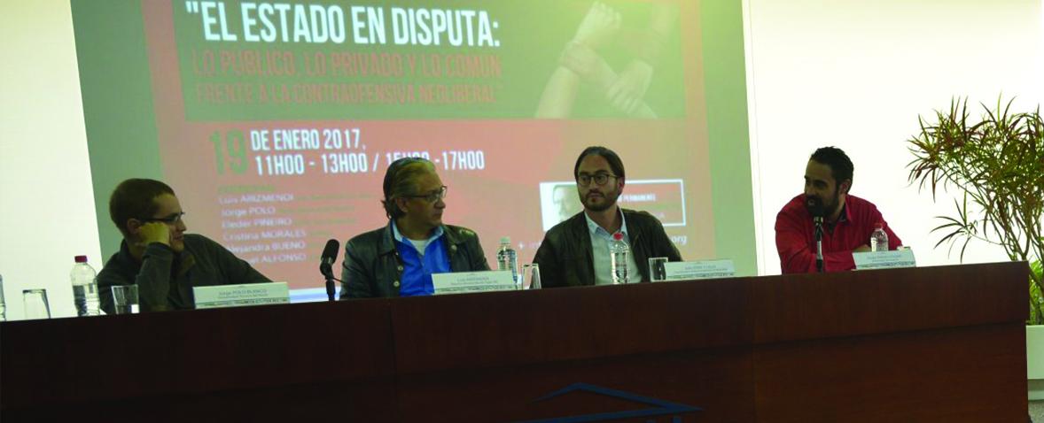 """El """"Estado en disputa"""" fue la primera actividad del año correspondiente al Seminario Bolívar ECHEVERRÍA"""