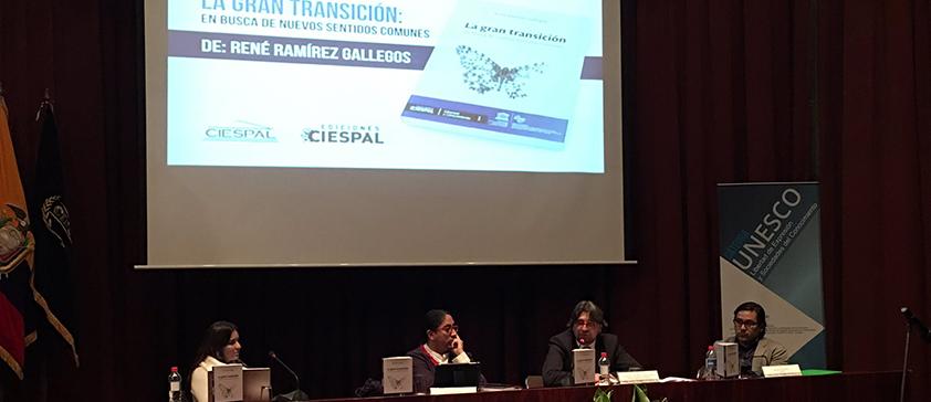 CIESPAL presentó 'La gran transición: en busca de nuevos sentidos comunes'