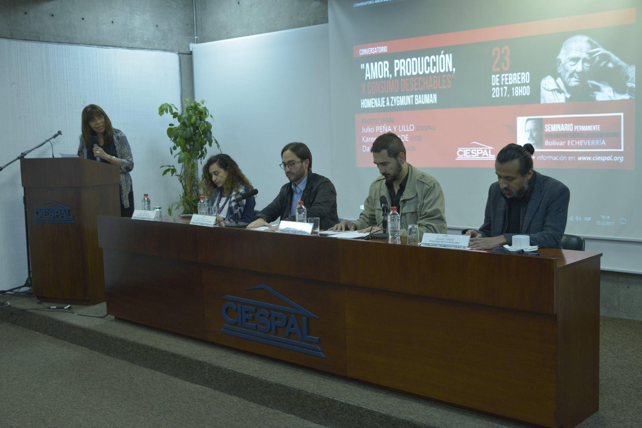 Seminario Bolívar ECHEVERRÍA realizó homenaje a Zygmunt BAUMAN