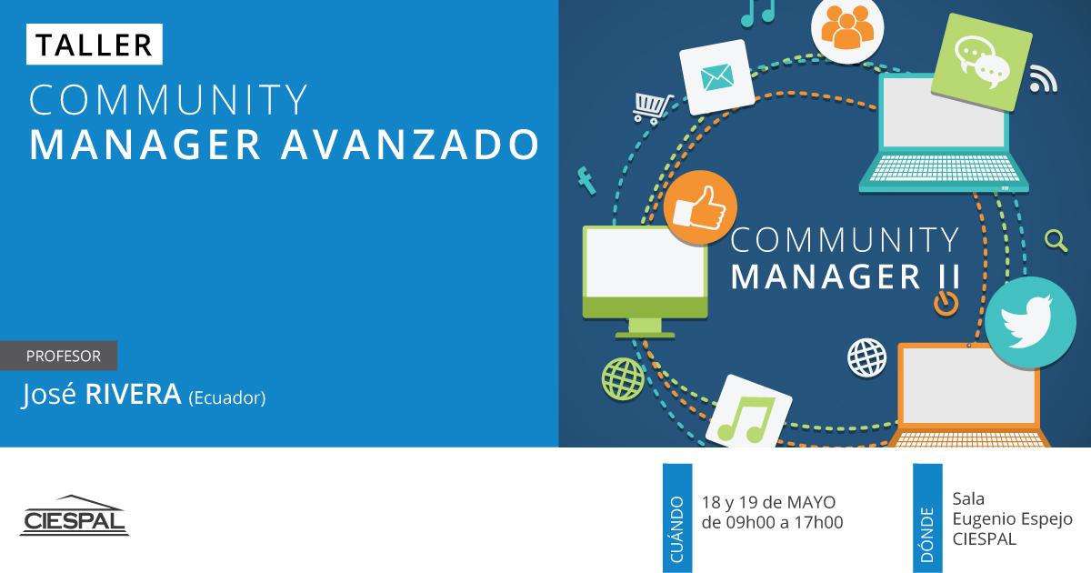 Taller de Community manager 2: Contenidos de alto impacto para organizaciones