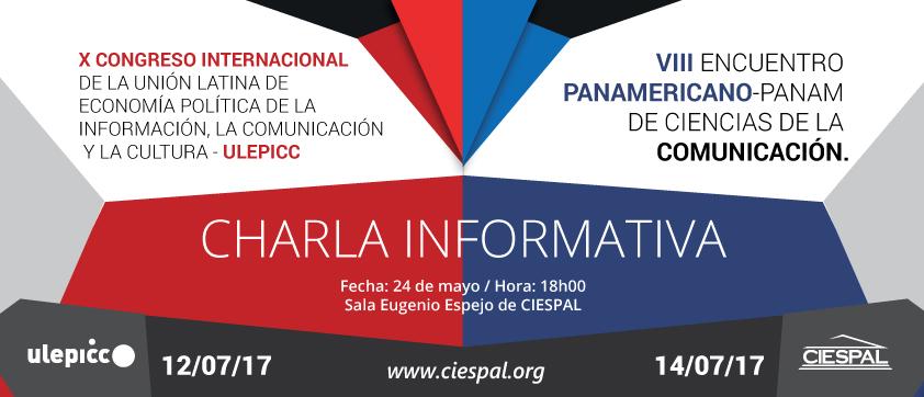 Charla informativa sobre el Congreso de ULEPICC que se realizará en julio en CIESPAL