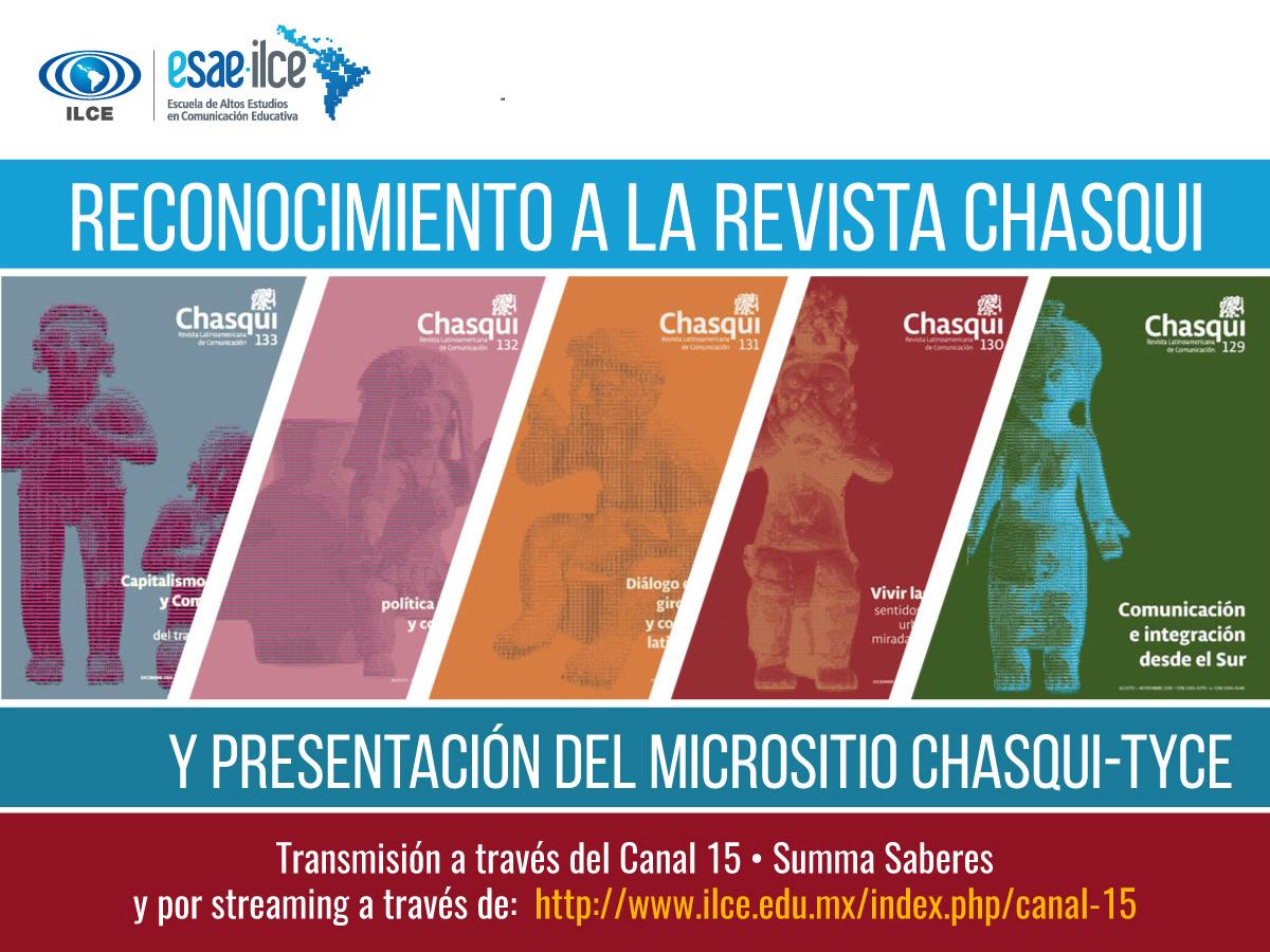 ILCE México rinde homenaje a la Revista Latinoamericana de Comunicación Chasqui