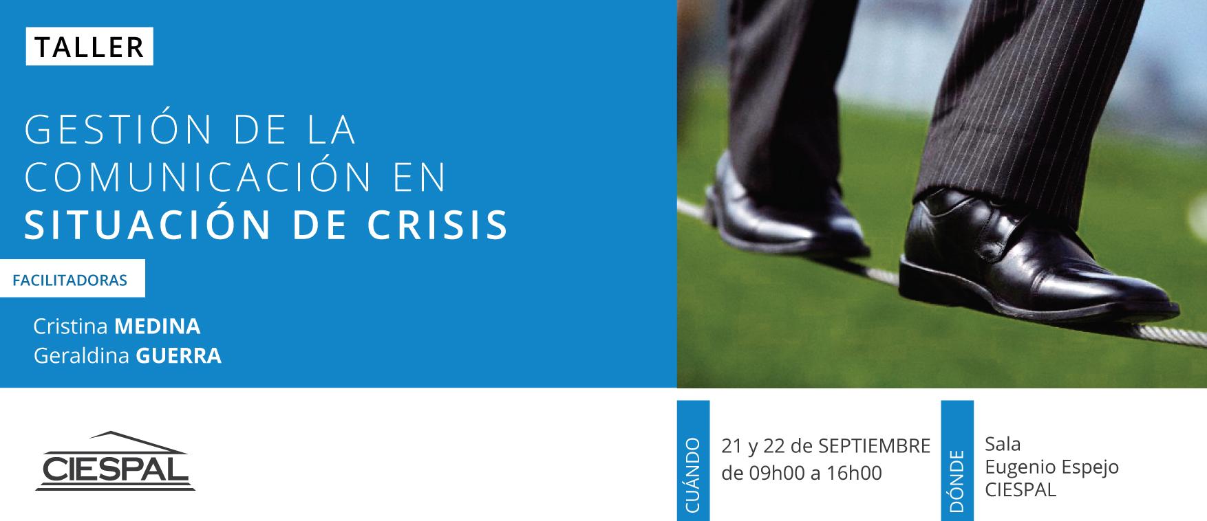 Taller de Gestión de la comunicación en situación de crisis