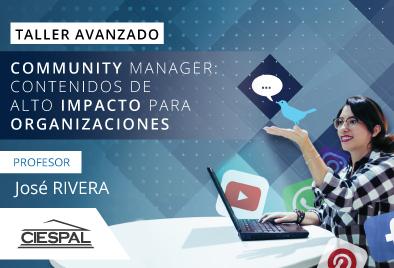 Taller avanzado de  Community manager: contenidos de alto impacto para organizaciones