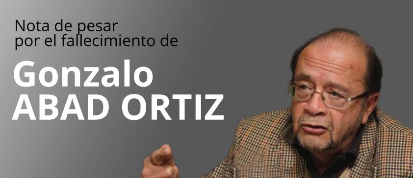 Nota de pesar por el fallecimiento de Gonzalo ABAD ORTIZ