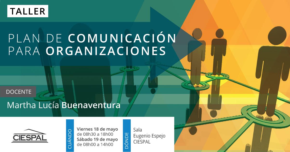 Taller Plan de comunicación para  instituciones y organizaciones