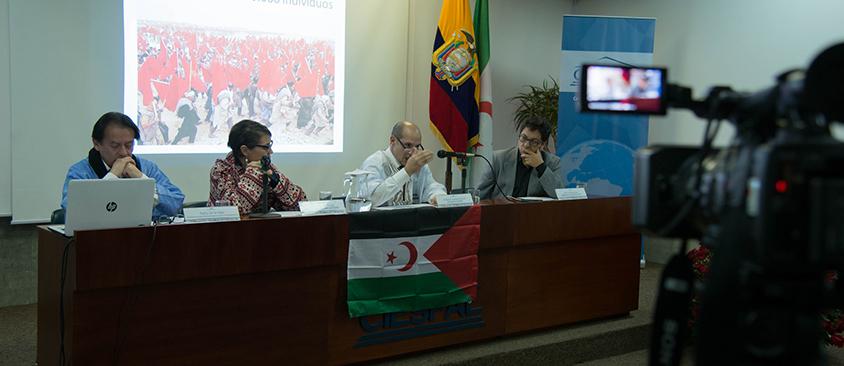 El pueblo saharaui conmemora su 42 aniversario de la proclamación de la independencia con conversatorio en CIESPAL