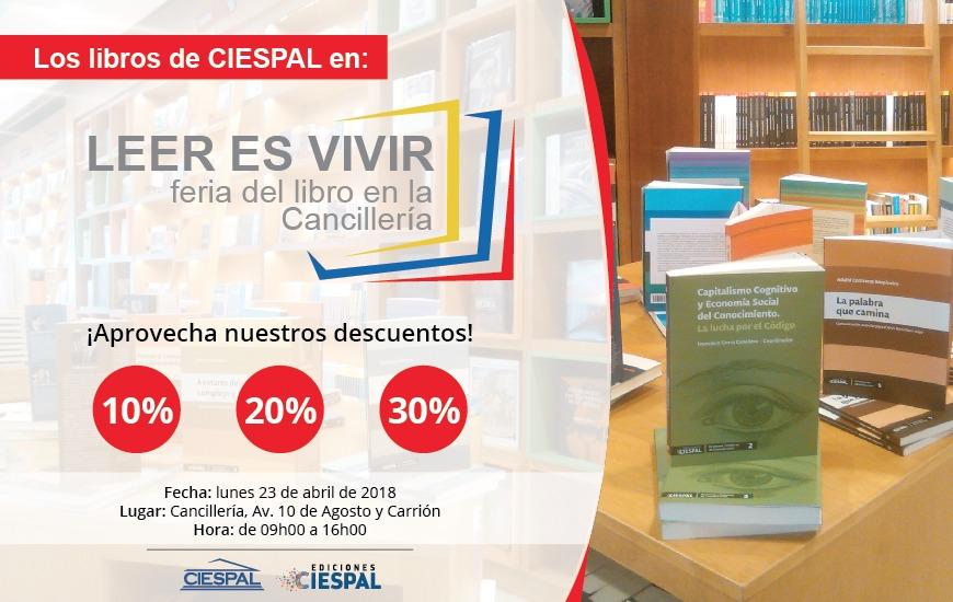 """Libros de Ediciones CIESPAL se exhibirán en la Feria """"Leer es vivir"""" en Quito"""