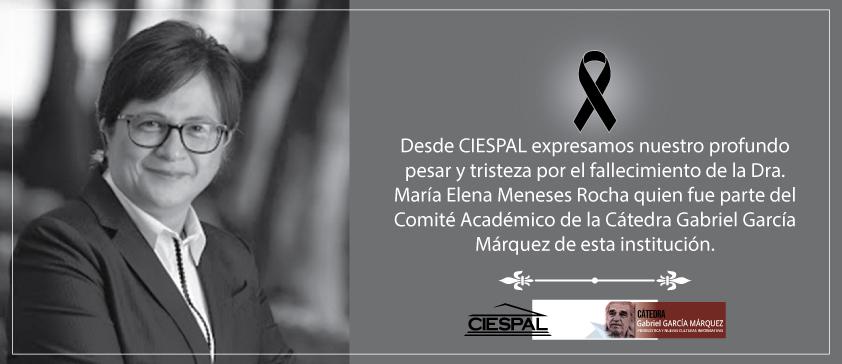Nota de pesar por el fallecimiento de la Dra. María Elena Meneses Rocha