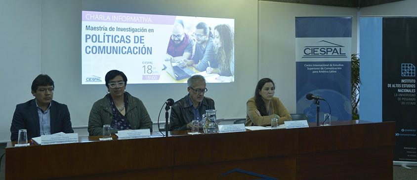 Representantes de IAEN Y CIESPAL presentaron la tercera edición de la Maestría en Políticas de Comunicación