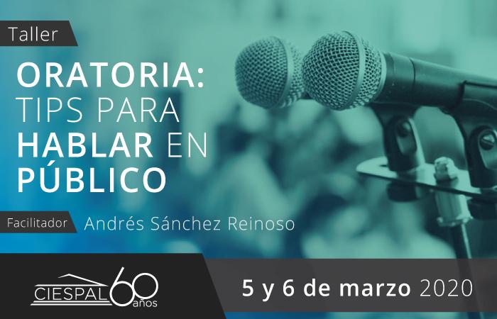 Taller Oratoria: tips para hablar en público