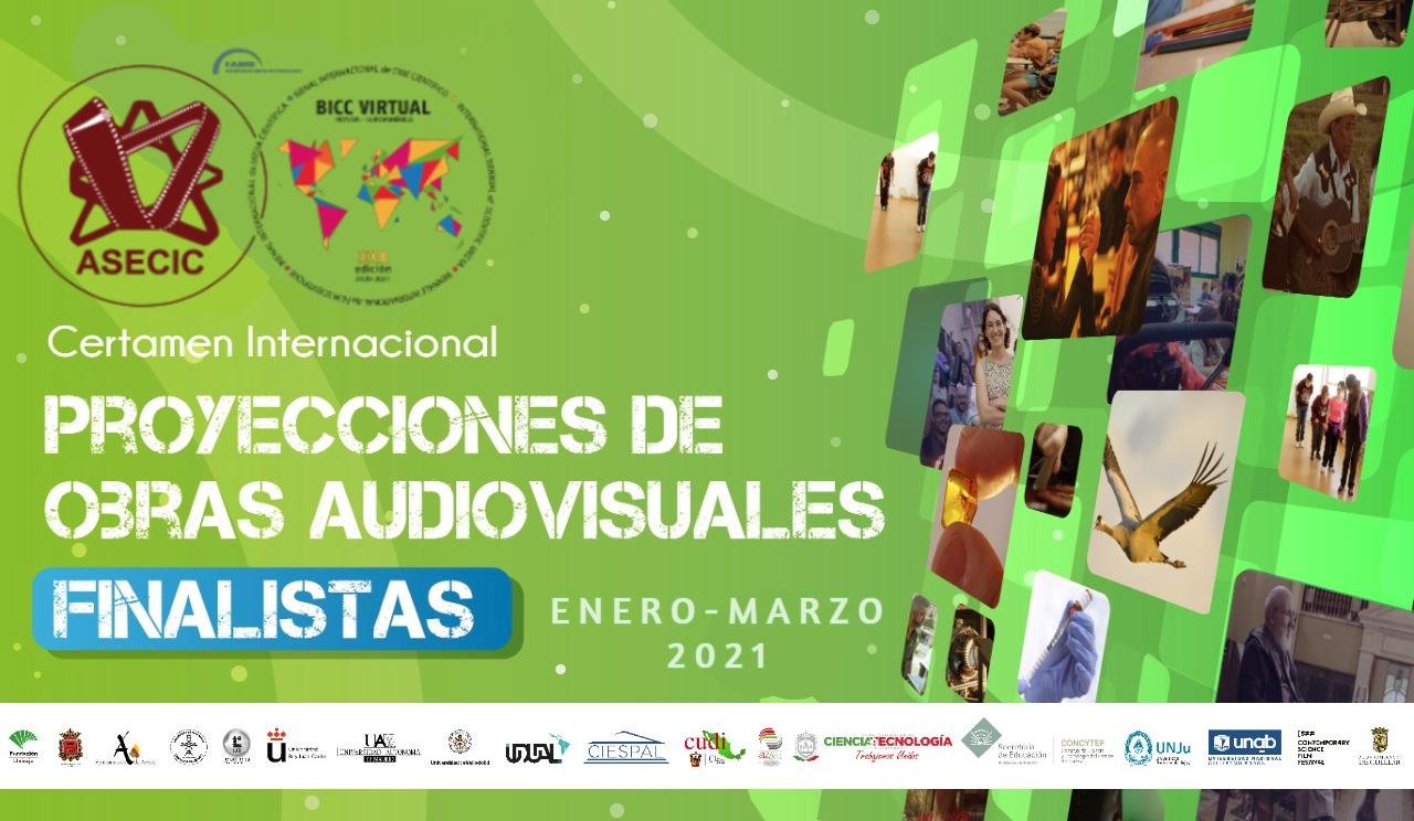 Proyecciones de obras audiovisuales BICC Virtual 2020-21