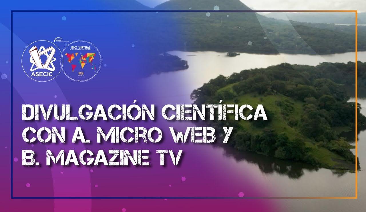 Proyección de obras finalistas BICC 2020-21 | Divulgación científica y tecnológica en los formatos audiovisuales