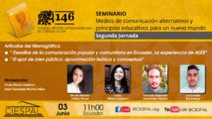 Segunda Jornada   Seminario: Medios de comunicación alternativos y principios educativos para un nuevo mundo