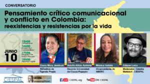 Conversatorio:  Pensamiento crítico comunicacionaly conflicto en Colombia